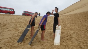 Sand Boarding at Port Stephens