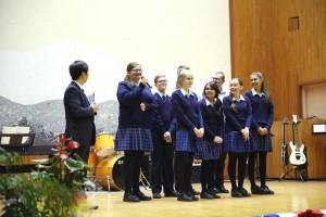 Singing Korean National Anthem