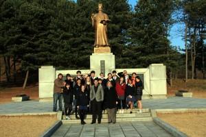 Visiting Sejong the Great Memorial